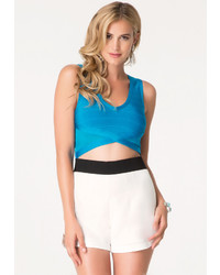 Bebe Bandage V Neck Crop Top