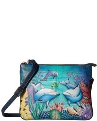 Anuschka Handbags 570 Triple Compartt Crossbody Handbags