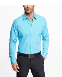 Aquamarine dress shirt for men lookastic for men for Aqua blue mens dress shirt