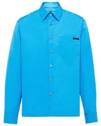 Prada Logo Patch Classic Shirt