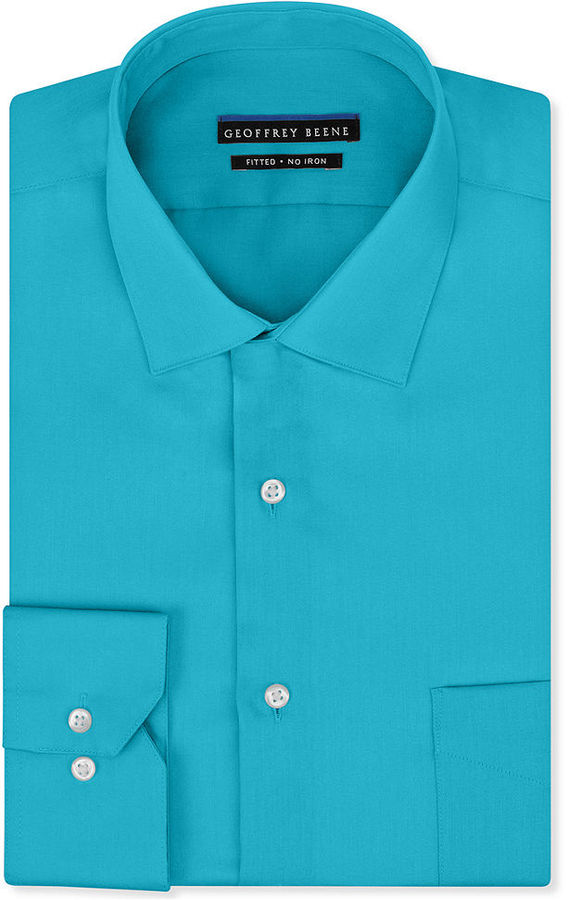 ddd38875807 ... Geoffrey Beene Non Iron Fitted Stretch Sateen Solid Dress Shirt ...