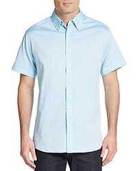 Regular fit tonal dot cotton sportshirt medium 590949