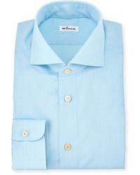 Solid poplin dress shirt aqua medium 615071