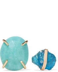Melissa Joy Manning 14 Karat Gold Apatite And Turquoise Earrings