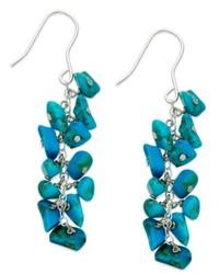 d0a7dbf12 Macy's Sterling Silver Earrings Turquoise Hoop Earrings $80 · Avalonia Road Sterling  Silver Earrings Turquoise Chip Drop Earrings