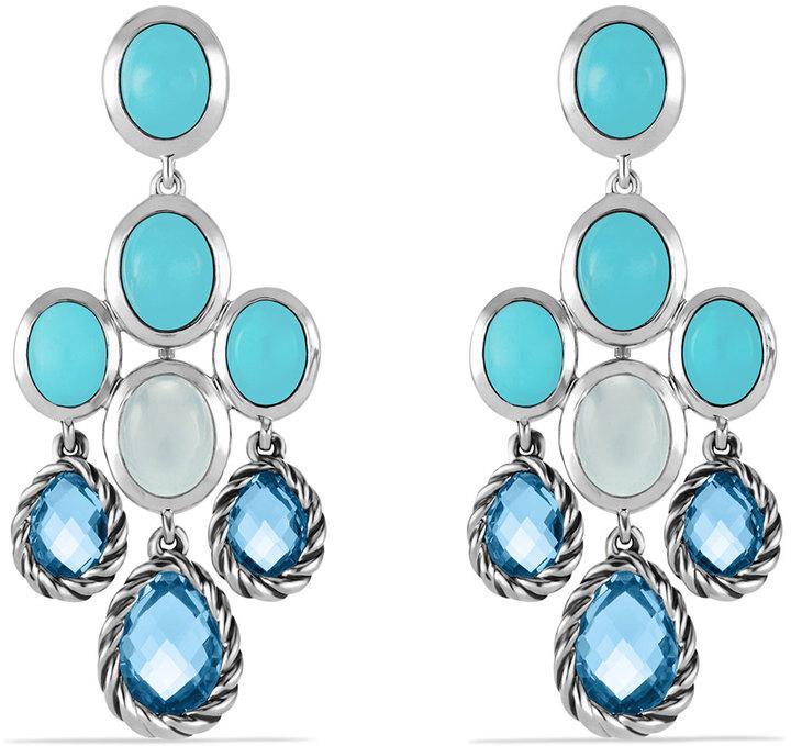 David yurman chandelier earrings with blue topaz turquoise and milky david yurman chandelier earrings with blue topaz turquoise and milky quartz aloadofball Image collections