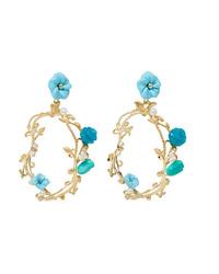 Of Rare Origin Forget Me Not Gold Vermeil Multi Stone Earrings
