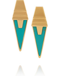 Eddie Borgo Gold Plated Turquoise Earrings