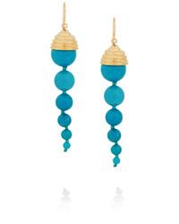 Aurelie Bidermann Lakotas Gold Plated Turquoise Earrings Aurlie Bidermann