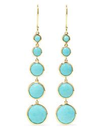 Ippolita Lollipop Lollitini 18 Karat Gold Turquoise Earrings