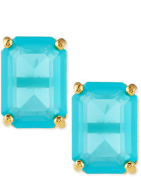 Kate Spade New York Emerald Cut Crystal Earrings Turquoise