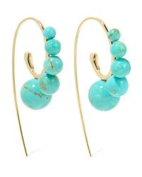Ippolita Nova 18 Karat Gold Turquoise Earrings