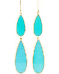 Ippolita Polished Rock Candy 18 Karat Gold Turquoise Earrings