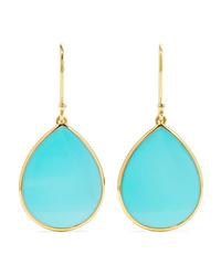 Ippolita Polished Rock Candy Mini 18 Karat Gold Turquoise Earrings