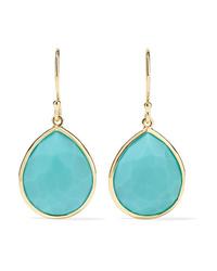 Ippolita Rock Candy 18 Karat Gold Turquoise Earrings