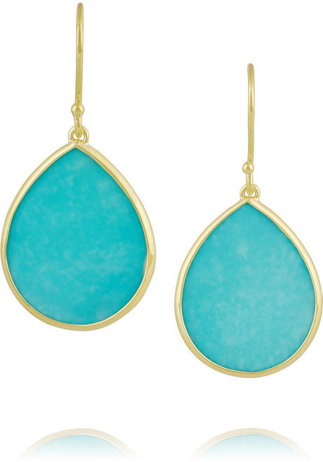 Ippolita Rock Candy 18 Karat Gold Turquoise Earrings