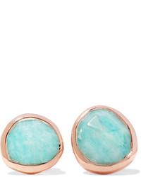 Monica Vinader Siren Rose Gold Vermeil Amazonite Earrings Turquoise