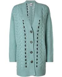 Leather embellished midi cardigan medium 4979260