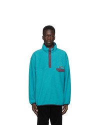 Wacko Maria Blue Fleece Pullover Jacket