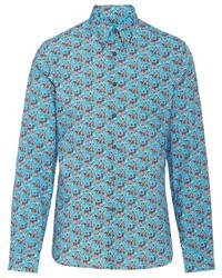 Prada Micro Rose Print Shirt