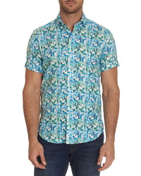 Robert Graham Fuller Regular Fit Floral Short Sleeve Button Up Shirt