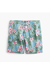 J.Crew 9 Stretch Board Short In Jungle Floral