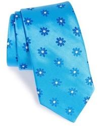 Aquamarine Floral Tie