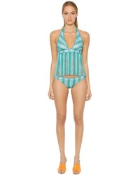 Missoni Striped Lace Bikini With Fringe
