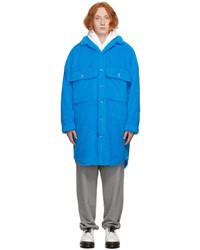 Doublet Blue Sherpa Fleece Badge Coat