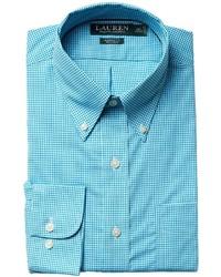 Aquamarine Gingham Dress Shirt