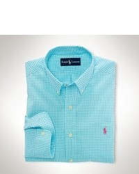 Aquamarine Gingham Long Sleeve Shirt