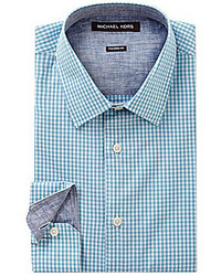Michael Kors Michl Kors Long Sleeve Tailored Seith Gingham Woven Shirt