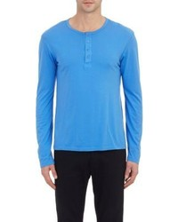 Goodlife Jersey Henley Blue