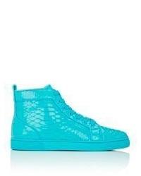 Christian Louboutin Louis Flat Sneakers Turquoise