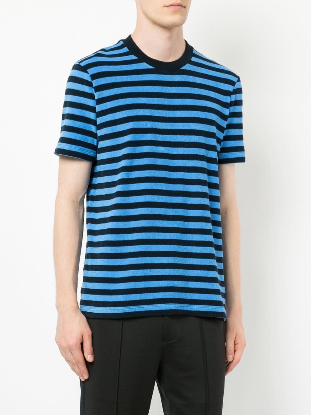 347a045b02 CK Calvin Klein Striped T Shirt, $67 | farfetch.com | Lookastic.com