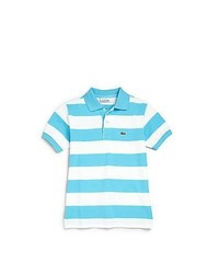 Aquamarine Horizontal Striped Polo