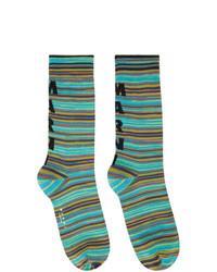 Marni Blue Striped Socks