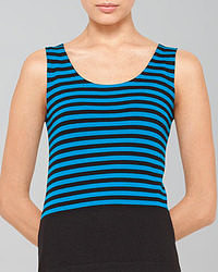 Aquamarine Horizontal Striped Tank