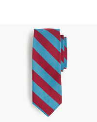 Aquamarine Horizontal Striped Tie