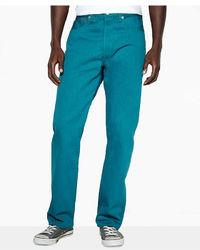 Levi's 501 Original Shrink To Fit Deep Aqua Jeans