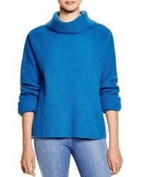 Aquamarine Knit Cowl-neck Sweater