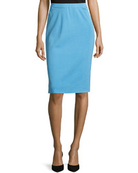 Ming Wang Knit Pencil Skirt Doll Blue