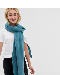 Accessorize Light Blue Ribbed Blanket Scarf