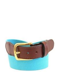 Aquamarine Leather Belt