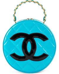 Chanel vintage round logo clutch medium 519919