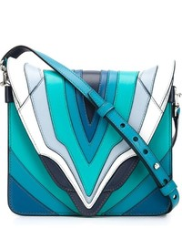 Elena Ghisellini Small Panelled Crossbody Bag