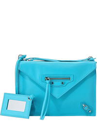 Balenciaga Papier Envelope Crossbody Bag Blue