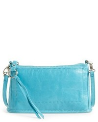 Small cadence leather crossbody bag blue medium 619851
