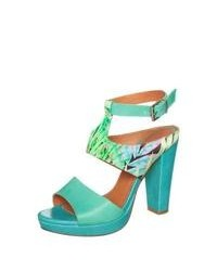Zign High Heeled Sandals Turquoise