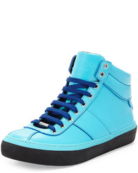 Malibu blue leather high top sneaker blue medium 641105